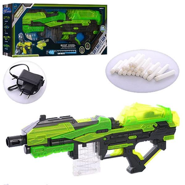 Дитячий бластер FJ555,акумулятор, автомат з поролоновими кулями,Футуристична гвинтівка