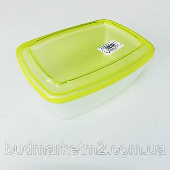 Контейнер прямоугольный пищевой 1,5 л цветная крышка