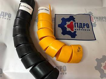 Пружинная пластиковая защита на РВД 87-110, толщина 5,5 (HG-110Y) (желтая)