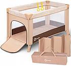 Кроватка туристическая Lionelo Suzie Brown-Beige, фото 2