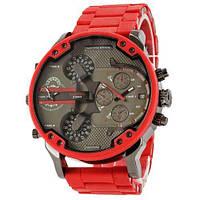 Мужские наручные часы Diesel Brave Steel Red Silicone. Реплика