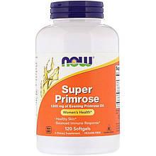 """Масло примулы вечерней NOW Foods """"Super Primrose"""" 1300 мг (120 гелевых капсул)"""