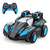Многофункциональный Гоночный Трюковый Автомобиль EZONTEQ на Р/У Голубая + свет, поворот на 360 градусов