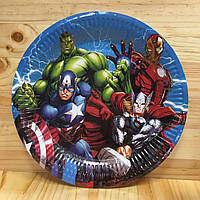 Тарелки бумажные тематические  23 см. (10 шт./уп.)  Супергерои / Мстители /