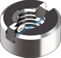 DIN 546, гайка круглая, шлицевая из нержавеющей стали