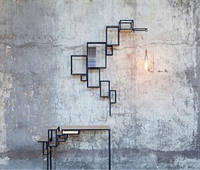 Комплект стол + Настенная Полка в стиле LOFT (Wall Shelf - 71)