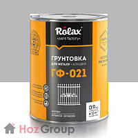 Грунтовка антикороззионная алкидная «ГФ-021» серая 0,9кг Ролакс