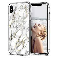 Чехол Spigen для iPhone XS Max Ciel by CYRILL, White Marble (065CS25261)