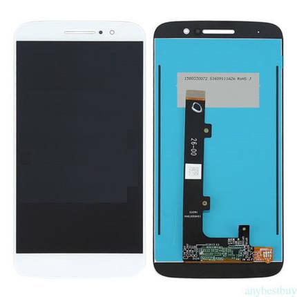 Дисплей (екран) для Motorola XT1662 Moto M з сенсором (тачскріном) білий, фото 2