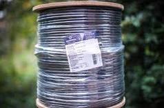 Коаксіальний кабель для телебачення F690BV black чорний для зовнішньої прокладки, Одескабель