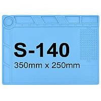 Силиконовый термостойкий коврик для пайки S-140 (35см на 25см)