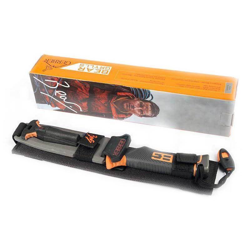 Нож для выживания Gerber BG Ultimate,туристический, с зубчиками,в чехле, с огнивом и свистком
