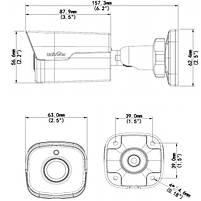 2 Мп уличная IP видеокамера  Uniview IPC2122SR3-UPF60-C, фото 3
