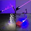 Лазерная указка с насадками Blue Laser B017 Синяя | лазер в кейсе, фото 4