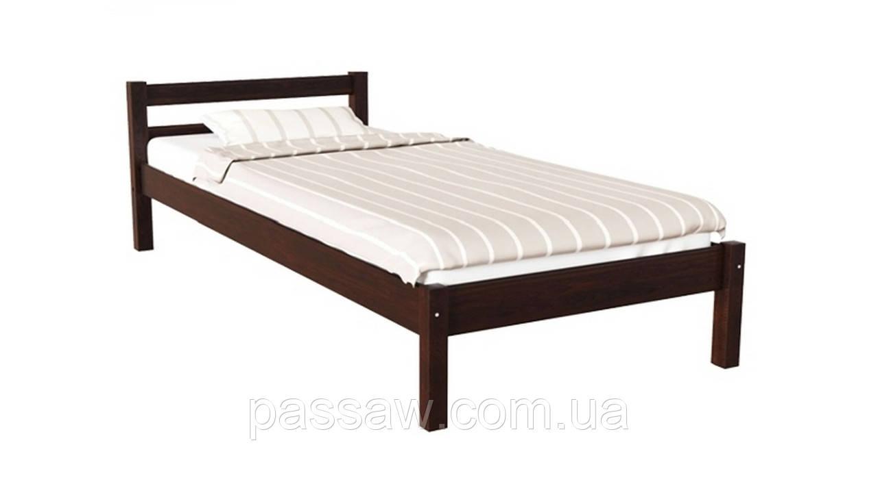 Кровать деревянная Л-140 1,0