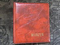 Альбом для монет MUNZEN на 42 монеты новый оранжевый