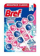 Шарики для унитаза Bref power aktiv Frower 3x50 г (Цветочный аромат)