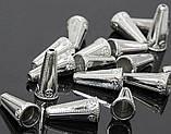 Конус 2 колпачок концевик для бус металлический серебро 26х12х6 мм, фото 2