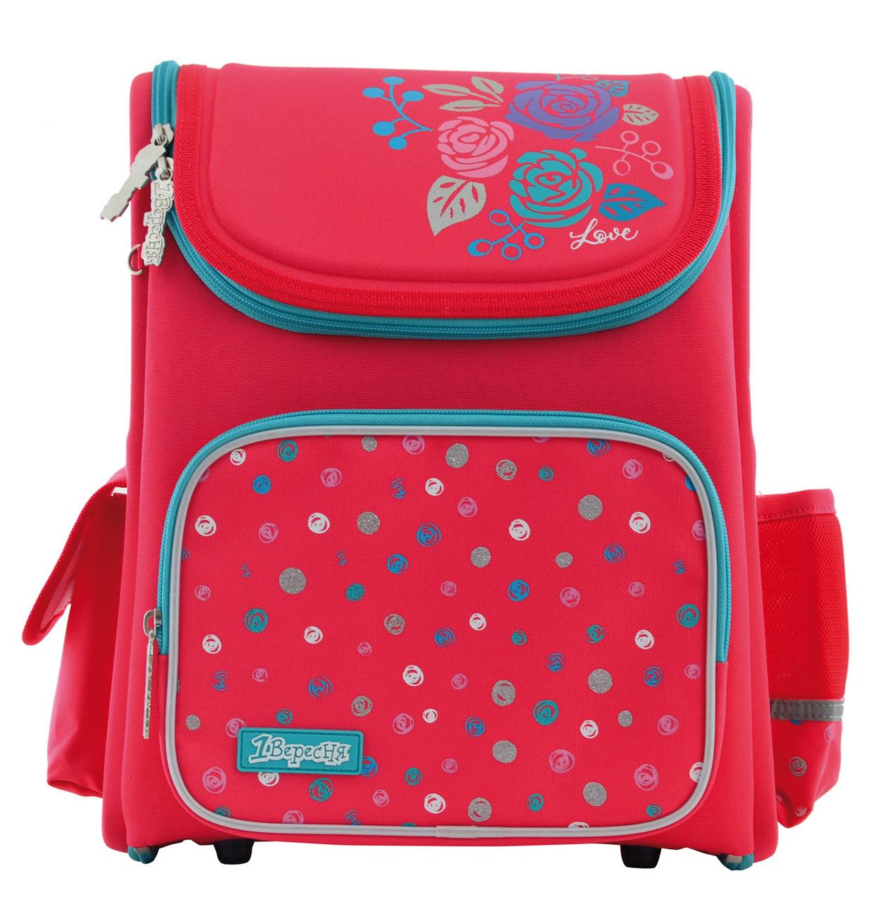556331 Модный каркасный рюкзак 1 Вересня H-17 Lovely roses 34*28*13