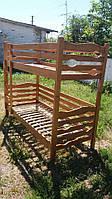 Двухъярусная кровать из дерева сосны  КД-1108