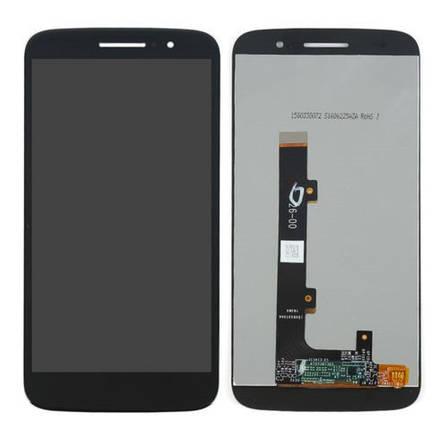 Дисплей (екран) для Motorola XT1663 Moto M з сенсором (тачскріном) чорний, фото 2