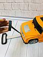 Детский чемодан-машина ДЖИП ОРАНЖЕВЫЙ арт. 1182, фото 3