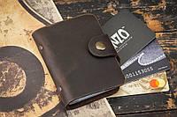 Визитница для кредитных карт mod. Drop коричневая