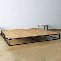 Кровать без изголовья в стиле LOFT (Bed - 060)