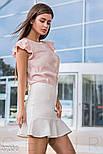 Летняя блуза с крылышками на рукавах розовая, фото 2