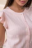 Летняя блуза с крылышками на рукавах розовая, фото 4