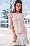 Летняя блуза с крылышками на рукавах розовая, фото 5