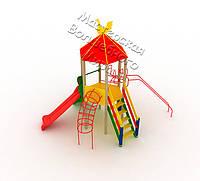 Детский комплекс Радость с пластиковой горкой - ДК 005.037