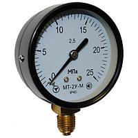 Манометр общетехнический МТ-2У D=63; к.т.2,5 0...2,5 МПа (кислород); резьба М12*1,5