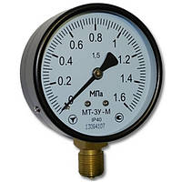 Манометр общетехнический МТ-3У D=100; к.т.1,5 -0,1…0 МПа; 0…0,1 МПа; резьба М20*1,5
