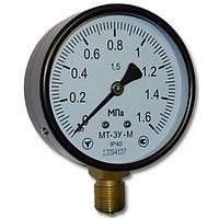 Манометр общетехнический МТ-3У D=100; к.т.1,0 -0,1…0 МПа; 0…0,1 МПа; резьба М20*1,5