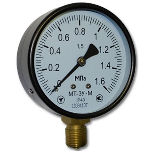 Манометр общетехнический МТ-3У-М D=100; к.т.1,5 0,4…6,0 МПа (стандарт)