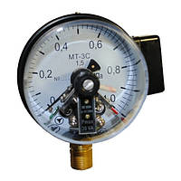 Манометр электроконтактный МТ-4С -0,1…0 Мпа; 0…0,16 МПа