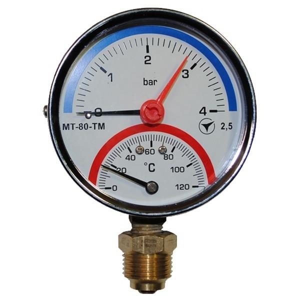 Термоманометр МТ-80-ТМ-О (осевой) 6/150 °С