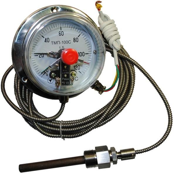Термометр капиллярный электроконтактный ТМП-100С 10м к.т 1,5 (от 0 до +200 °С)