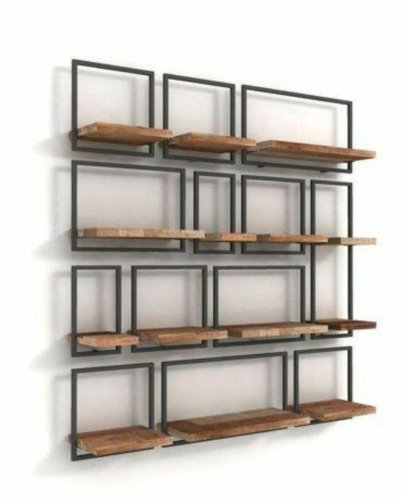 Набір настінних полиць в стилі LOFT (Wall Shelf - 67)