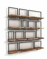 Набір настінних полиць в стилі LOFT (Wall Shelf - 67), фото 1