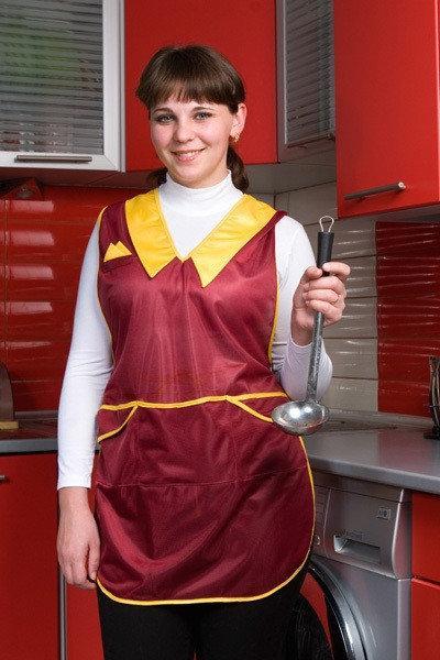 Фартук для кухни 4408, торговый 48-60р. женский нейлон Хелслайф