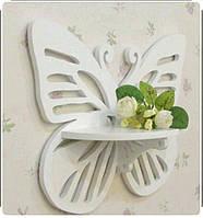 """Полочка """"Бабочка"""" для цветов,сувениров,книг."""