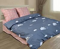 Детское постельное белье полуторное хмарки , Бязь голд