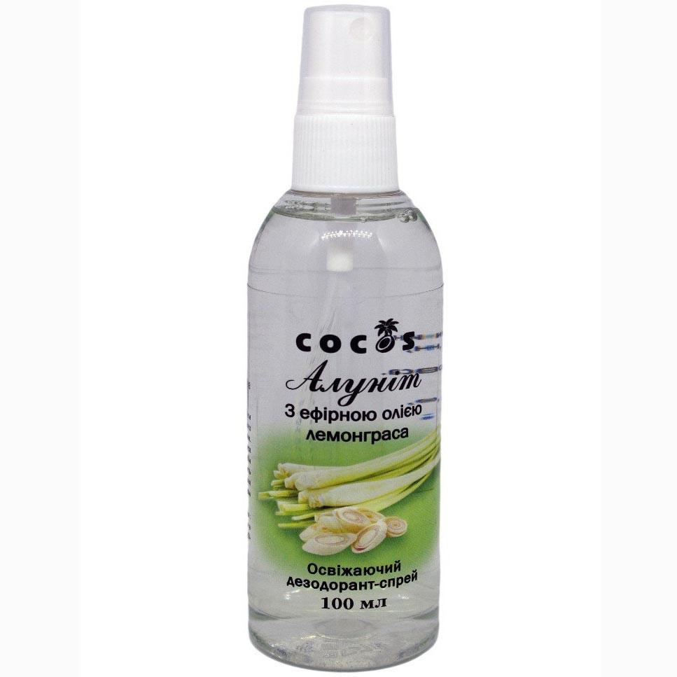 Алуніт (дезодорант-спрей) з ефірною олією Лемонграса, 100 мл