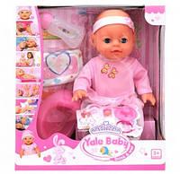 Пупс игрушечный реборн в розовой одежде YL 1712 H | детская куколка | горшок, подгузник, бутылочка, соска