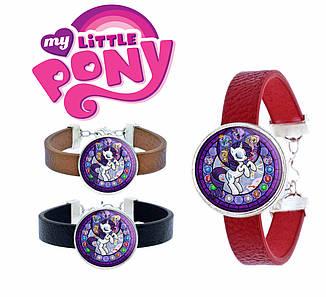 Браслет My Little Pony розовый с изображением Рерити