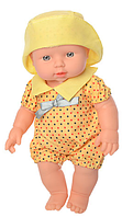 """Пупс игрушечный в желтой одежде и панамке 212-X-216-X LIMO TOY """"Малюки""""   детская куколка   пупсик"""