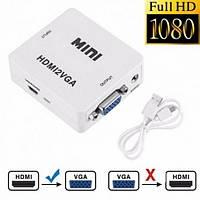 Адаптер HDMI to VGA (переходник, конвертер, 720p/1080p) переходник, конвертер