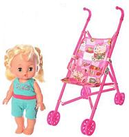 Кукла с коляской и расческой в костюмчике Smile Angel SA 4012 для девочки | куколка в коляске (3 вида)